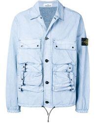Veste multi-poches Stone Island pour homme en coloris Blue
