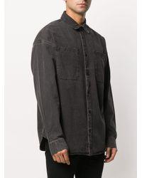 メンズ AllSaints Trellick ストーンウォッシュ シャツ Black