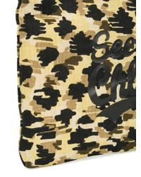 See By Chloé - Multicolor Leopard Print Logo Makeup Bag - Lyst