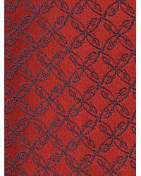 メンズ Brioni パターン ネクタイ Red
