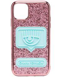 Chiara Ferragni スタッズトリム Iphone 11 ケース Pink