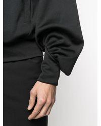 メンズ Random Identities オーバーサイズ スウェットシャツ Black