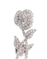 Yvonne Léon - Metallic Rose Stem Diamond Earring - Lyst