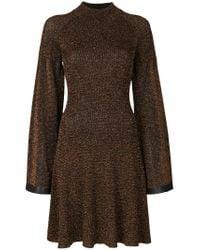 Pringle of Scotland | Metallic Raglan Dress | Lyst