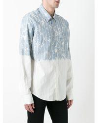 Faith Connexion Blue Contrast Striped Shirt for men