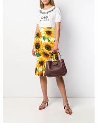 Borsa tote con logo DG di Dolce & Gabbana in Multicolor