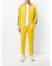 Kappa Yellow Zipped Sport Jacket for men