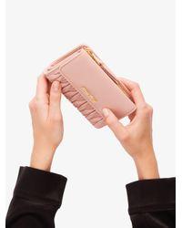 Miu Miu フラップ財布 Pink