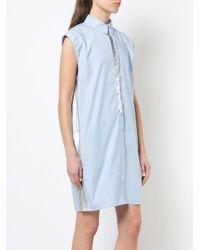 Paco Rabanne Blue Silver Slick Dress