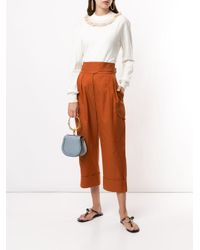 See By Chloé City クロップドパンツ Brown