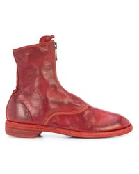 Guidi Red Zip Detail Boots