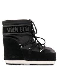 Moon Boot Black Logo Printed S