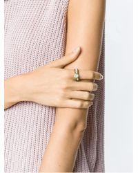 Serpui - Metallic Crystal Embellished Ring - Lyst