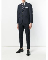 Thom Browne - Blue Cropped Tailored Trousers for Men - Lyst