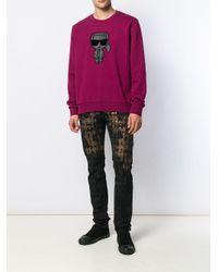 Sweat Ikonik Karl Lagerfeld pour homme en coloris Pink