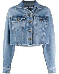 Versace Jeans Blue Logo Denim Jacket
