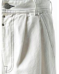 Jeans svasati a vita alta di MM6 by Maison Martin Margiela in White