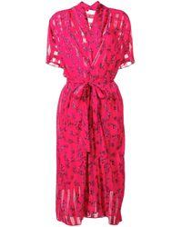 Lala Berlin フローラル ラップドレス Pink