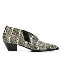 Aeyde - Black Will Snakeskin Effect Boots - Lyst
