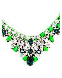 Shourouk Green Theresa Crystal Embellished Necklace