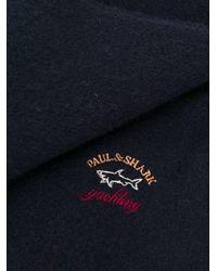 メンズ Paul & Shark ロゴ スカーフ Blue