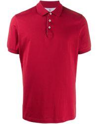 Polo liso Brunello Cucinelli de hombre de color Red