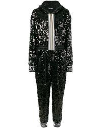 Dolce & Gabbana スパンコール ジャンプスーツ Black