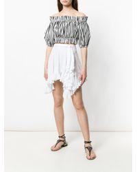 Isabel Marant White Asymmetric Skirt