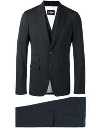 DSquared² Gray London Three-piece Suit for men