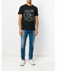 メンズ DIESEL ロゴプリント Tシャツ Black