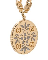 Gucci - Metallic Gold And Enamel Icon Floral Earrings - Lyst