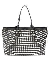 Serapian Black Secret Mosaic Tote Bag