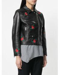 Gaëlle Bonheur - Black Embroidered Rose Jacket - Lyst