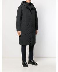 Doudoune zippée à capuche Theory pour homme en coloris Black