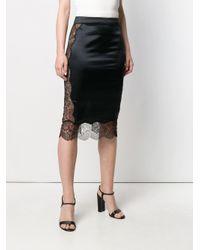 Falda con dobladillo de encaje Tom Ford de color Black