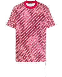 Mastermind Japan Red All-over Logo T-shirt for men