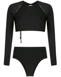 Osklen Black Mesh Panel Bikini
