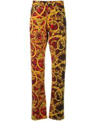 メンズ Versace Jeans バロックプリント ジーンズ Orange
