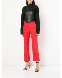 MARINE SERRE Black Bustier Shirt