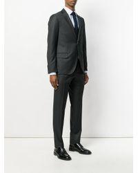 Lardini Black Striped Three Piece Suit for men