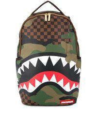 Sprayground Green Shark Mouth Backpack for men