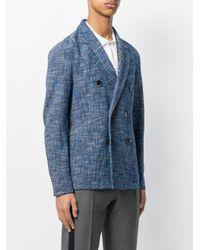 Barena Blue Double Breasted Blazer for men