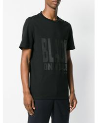 Neil Barrett Black Printed Graphic T-shirt for men