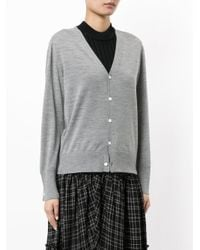 Astraet - Gray Button Up Cardigan - Lyst