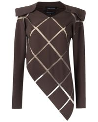 Gloria Coelho Brown Panelled Blouse