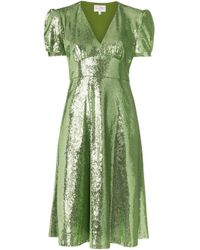 Robe Paula HVN en coloris Green