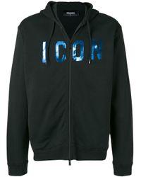 DSquared² Black Icon Hooded Jacket for men