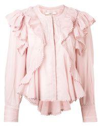 Étoile Isabel Marant フリルブラウス Pink
