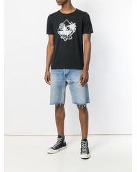 Saint Laurent Black Young Romance T-shirt for men