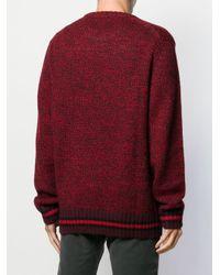 Maglione a girocollo di Woolrich in Red da Uomo
